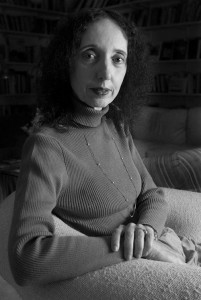 """Author Joyce Carol Oates poses for a portrait in her Princeton, N.J., home in this March 20, 2000 photo. Oates has almost completely rewritten her 1967 novel, """"A Garden of Earthly Delights,"""" for a new hardcover edition in 2003 published by The Modern Library. (AP Photo/Jeff Zelevansky)"""